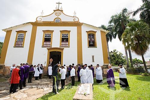 Procissão da Rasoura - na Igreja de Nossa Senhora das Mercês (século XVIII) - durante a festividade de Bom Jesus dos Passos  - Tiradentes - Minas Gerais (MG) - Brasil