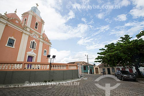 Fachada da Igreja de Nossa Senhora da Penha de França (1840)  - Resende Costa - Minas Gerais (MG) - Brasil