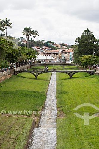 Ponte do Teatro sobre o Córrego do Lenheiro  - São João del Rei - Minas Gerais (MG) - Brasil
