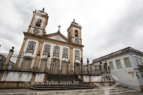 Fachada da Catedral Basílica da Nossa Senhora do Pilar (1721) - também conhecida como Matriz de Nossa Senhora do Pilar  - São João del Rei - Minas Gerais (MG) - Brasil