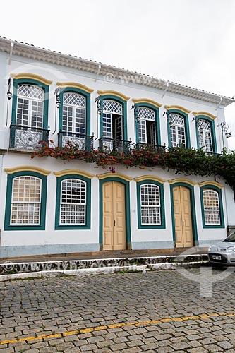Fachada do Solar dos Neves - casa onde viveu o ex-presidente Tancredo Neves  - São João del Rei - Minas Gerais (MG) - Brasil