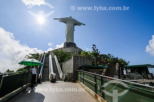 Escada rolante de acesso ao mirante do Cristo Redentor (1931)  - Rio de Janeiro - Rio de Janeiro (RJ) - Brasil