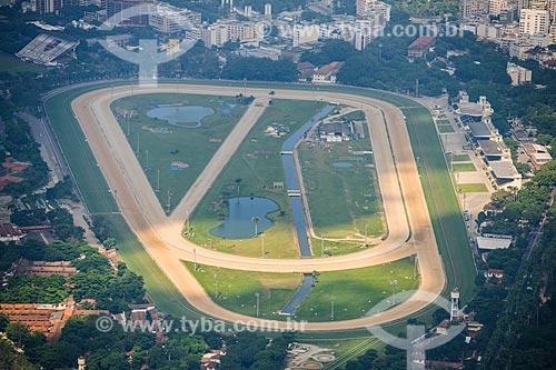 Vista do Hipódromo da Gávea a partir do Cristo Redentor  - Rio de Janeiro - Rio de Janeiro (RJ) - Brasil
