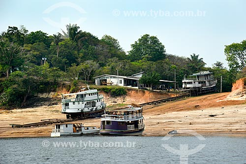 Estaleiro Naval São José na margens do Rio Negro  - Novo Airão - Amazonas (AM) - Brasil
