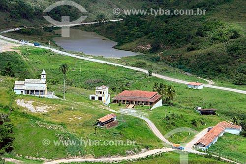 Foto aérea do Engenho Bento Velho às margens da Rodovia BR-232  - Vitória de Santo Antão - Pernambuco (PE) - Brasil