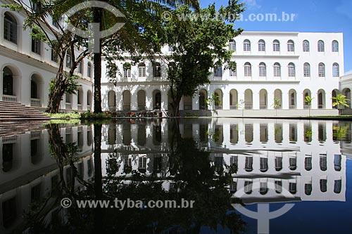 Pátio do Hospital Dom Pedro II (1861) - parte do Instituto de Medicina Integral Professor Fernando Figueira (IMIP)  - Recife - Pernambuco (PE) - Brasil