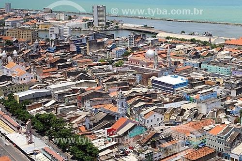 Vista de cima do bairro de São José  - Recife - Pernambuco (PE) - Brasil