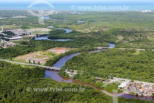 Rio Jaboatão próximo à sua foz  - Jaboatão dos Guararapes - Pernambuco (PE) - Brasil