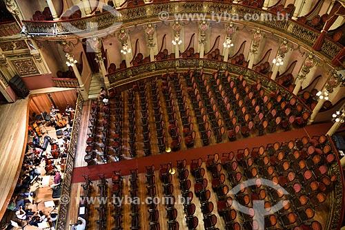 Ensaio da orquestra sinfônica no interior do Teatro Amazonas (1896)  - Manaus - Amazonas (AM) - Brasil
