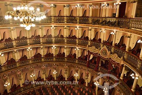 Camarotes no interior do Teatro Amazonas (1896)  - Manaus - Amazonas (AM) - Brasil