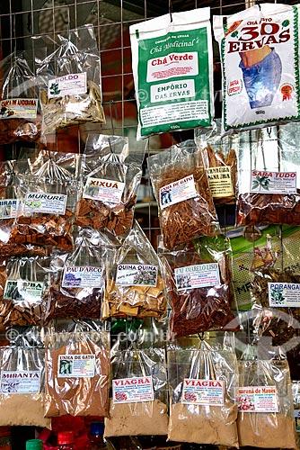 Ervas à venda no Mercado Municipal Adolpho Lisboa (1883)  - Manaus - Amazonas (AM) - Brasil
