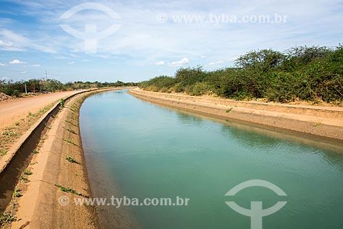 Canal principal de irrigação do Projeto Nilo Coelho - Vale do São Francisco  - Petrolina - Pernambuco (PE) - Brasil