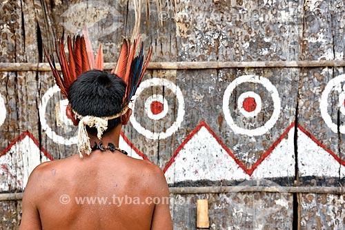 Tribo Tatuyo às margens do Rio Negro  - Manaus - Amazonas (AM) - Brasil