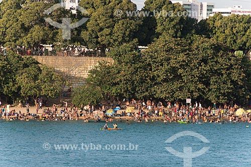Banhistas na ilha do Fogo - Rio São Francisco  - Petrolina - Pernambuco (PE) - Brasil