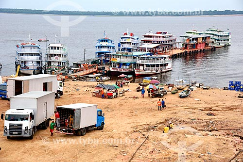Transporte de mercadorias e passageiros no Porto de Manaus Moderna  - Manaus - Amazonas (AM) - Brasil