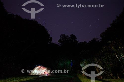 Vista de acampamento na Pedra do Sino - durante a trilha entre Teresópolis à Petrópolis no Parque Nacional da Serra dos Órgãos  - Teresópolis - Rio de Janeiro (RJ) - Brasil