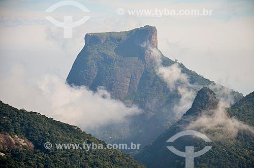 Vista geral a partir da trilha do Morro do Queimado com a Pedra da Gávea ao fundo  - Rio de Janeiro - Rio de Janeiro (RJ) - Brasil