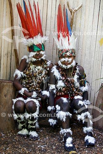 Ritual da Moça Nova dos índios Tikunas do Alto Solimões  - Tabatinga - Amazonas (AM) - Brasil