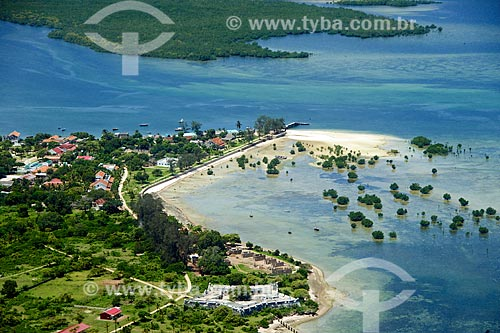 Foto aérea da orla da Ilha do Ibo  - Distrito de Ibo - Província de Cabo Delgado - Moçambique