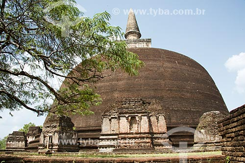 Templo Kiri Vihara - antigo santuário para relíquias sagradas do Sri Lanka  - Distrito de Polonnaruwa - Província Centro-Norte - Sri Lanka