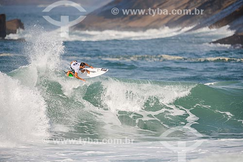Bino Lopes surfando na etapa brasileira do WSL (Liga Mundial de Surfe) WSL Oi Rio Pro 2016 na Praia de Grumari  - Rio de Janeiro - Rio de Janeiro (RJ) - Brasil