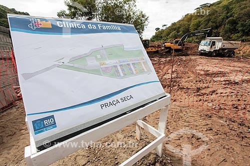 Canteiro de obras - construção da Clínica da Família da Praça Seca  - Rio de Janeiro - Rio de Janeiro (RJ) - Brasil