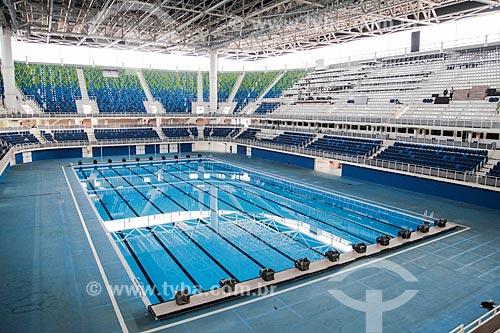 Interior do Centro Olímpico de Esportes Aquáticos - parte do Parque Olímpico Rio 2016  - Rio de Janeiro - Rio de Janeiro (RJ) - Brasil