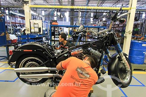 Interior da fábrica da montadora Harley-Davidson  - Manaus - Amazonas (AM) - Brasil