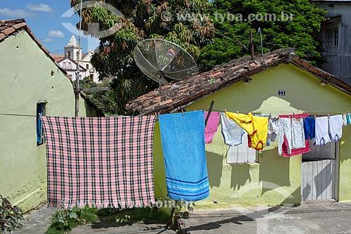 Varal em casa da cidade de Tracunhaém  - Tracunhaém - Pernambuco (PE) - Brasil