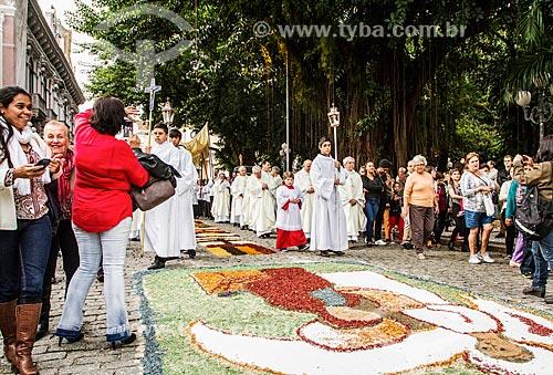 Procissão de Corpus Christi próximo à Praça XV de Novembro  - Florianópolis - Santa Catarina (SC) - Brasil