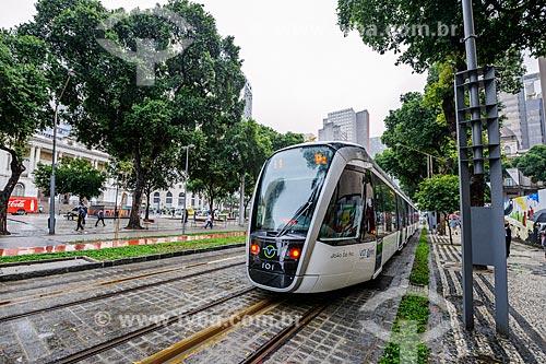 Viagem teste do Veículo Leve Sobre Trilhos (VLT)  - Rio de Janeiro - Rio de Janeiro (RJ) - Brasil
