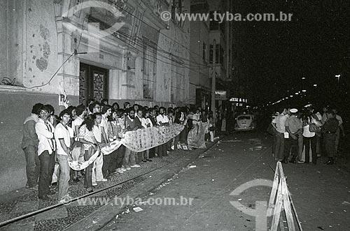 Manifestação contra a demolição do prédio da União Nacional dos Estudantes  - Rio de Janeiro - Rio de Janeiro (RJ) - Brasil