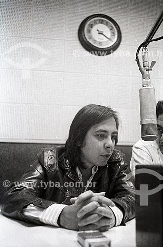 Cantor Edu Lobo nos estúdios da Rádio Jornal do Brasil  - Rio de Janeiro - Rio de Janeiro (RJ) - Brasil