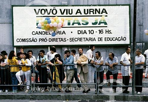 Outdoor da Campanha das Diretas Já  - Rio de Janeiro - Rio de Janeiro (RJ) - Brasil