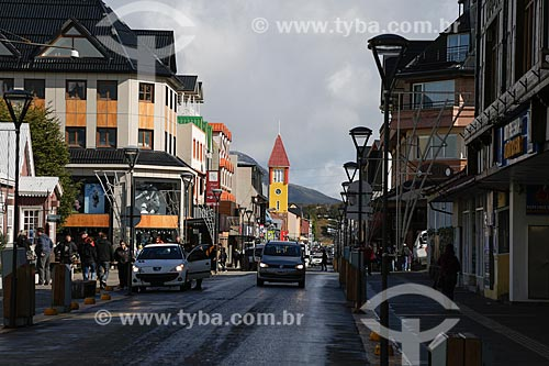 Rua na cidade de Ushuaia  - Ushuaia - Província Terra do Fogo - Argentina