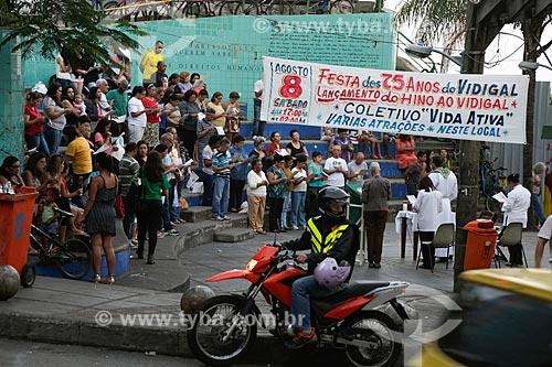 Missa na praça em comemoração aos 75 anos do Favela do Vidigal  - Rio de Janeiro - Rio de Janeiro (RJ) - Brasil