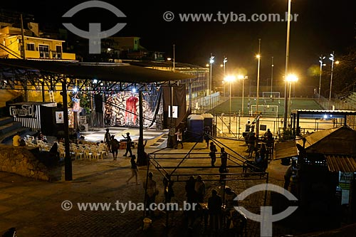 Campinho Show - apresentações musicais promovidas pelo grupo teatral Nós do Morro na Vila Olímpica do Vidigal  - Rio de Janeiro - Rio de Janeiro (RJ) - Brasil
