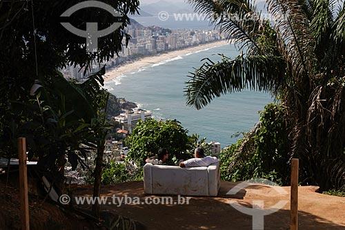 Vista da Praia de Ipanema a partir da favela do Vidigal  - Rio de Janeiro - Rio de Janeiro (RJ) - Brasil