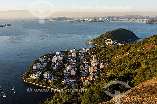 Foto aérea do bairro da Urca  - Rio de Janeiro - Rio de Janeiro (RJ) - Brasil