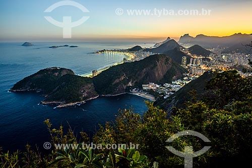 Vista da Praia Vermelha do Pão de Açúcar com as Praias de Ipanema e Copacabana ao fundo  - Rio de Janeiro - Rio de Janeiro (RJ) - Brasil
