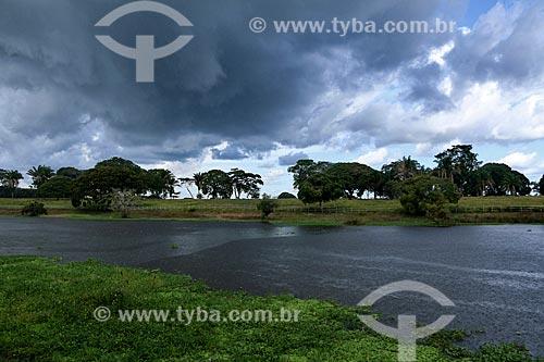 Vista do Paraná da Princesa - braço do Rio Amazonas - a partir do Clube Coca-Cola (antigo Clube Kuat)  - Parintins - Amazonas (AM) - Brasil