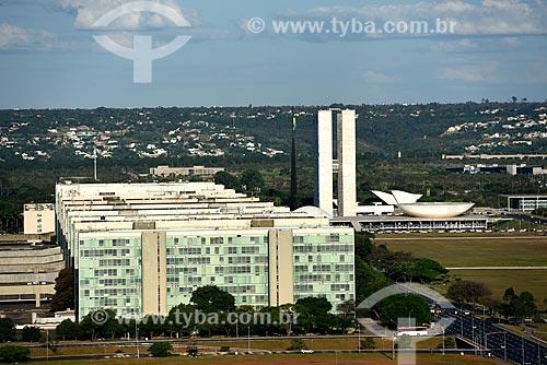 Esplanada dos Ministérios e Congresso Nacional ao fundo  - Brasília - Distrito Federal (DF) - Brasil