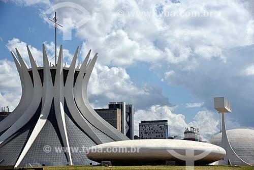 Catedral Metropolitana de Nossa Senhora Aparecida (1958) - também conhecida como Catedral de Brasília  - Brasília - Distrito Federal (DF) - Brasil