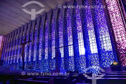 Interior do Santuário Dom Bosco  - Brasília - Distrito Federal (DF) - Brasil