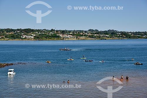 Prática de esportes e lazer no Lago Paranoá  - Brasília - Distrito Federal (DF) - Brasil
