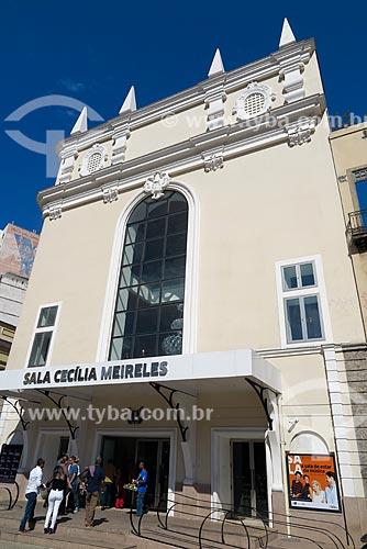 Fachada da Sala Cecília Meireles  - Rio de Janeiro - Rio de Janeiro (RJ) - Brasil