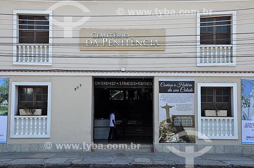 Entrada do Cemitério da Venerável Ordem Terceira de São Francisco da Penitência - também conhecido como Cemitério da Penitência  - Rio de Janeiro - Rio de Janeiro (RJ) - Brasil