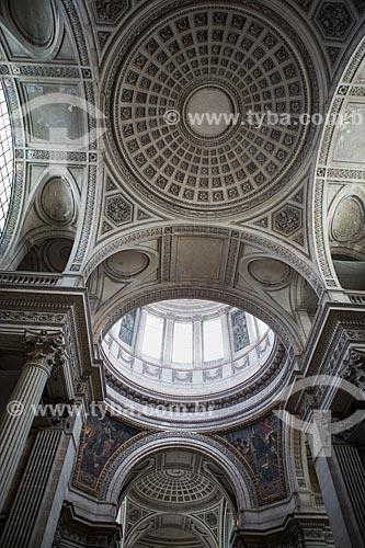 Detalhe do teto do Panthéon de Paris (Panteão de Paris) - 1790  - Paris - Paris - França