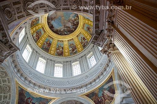 Detalhe do teto da Catedral de Saint-Louis-des-Invalides  - Paris - Paris - França