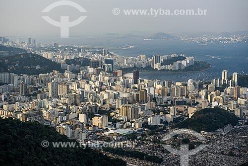 Vista do bairro de Botafogo durante a trilha no Morro dos Cabritos  - Rio de Janeiro - Rio de Janeiro (RJ) - Brasil